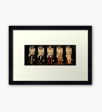Who is the Doctor?  Costumes Framed Print