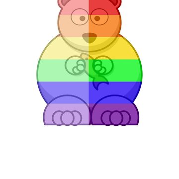 Love U Tees Funny Rainbow Animals Polar Bear LGBT Pride Week Swag, Unique Rainbow Gifts by LoveUTees