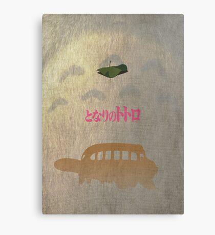 Ghibli Minimalist 'My Neighbour Totoro' Canvas Print