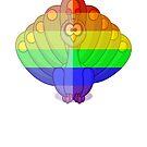 Love U Tees Funny Rainbow Animals Peacock, bird LGBT Pride Week Swag, Unique Rainbow Gifts by LoveUTees