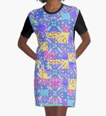 Stylized Bandana Graphic T-Shirt Dress