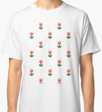 Red And Green Spring Tulip Flowers Classic T-Shirt