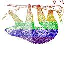 Love U Tees Funny Rainbow Animals Sloth LGBT Pride Week Swag, Unique Rainbow Gifts by LoveUTees