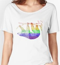 Love U Tees Funny Rainbow Animals Sloth LGBT Pride Week Swag, Unique Rainbow Gifts Women's Relaxed Fit T-Shirt