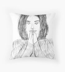 Bjork- Debut Throw Pillow