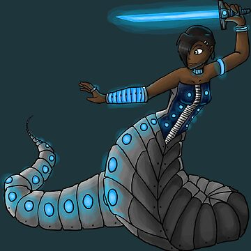 Electric Blue Naga by Middynighty