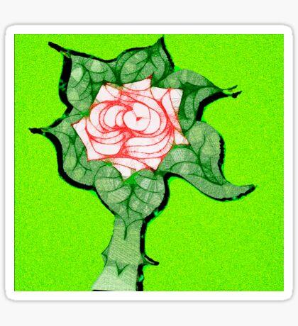 Scribblertoo Rose Sticker