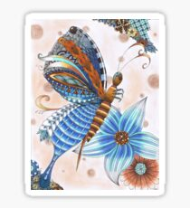 Tangled butterfly Sticker