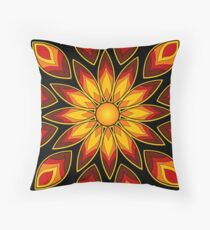 Flower Fire! Throw Pillow