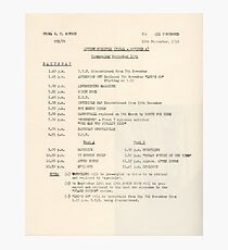 1950s TV Schedule from ABC Photographic Print
