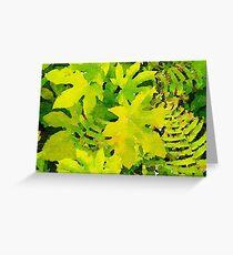 Tropical Leaf Watercolour Greeting Card