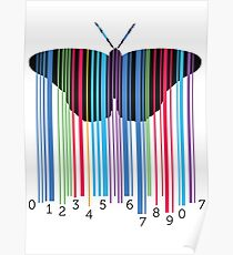 cute and cool modern butterfly design Poster