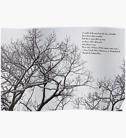 Snow In The Woods - Lewis Carroll Quotation Poster