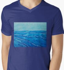 Japanese Waves original painting Men's V-Neck T-Shirt