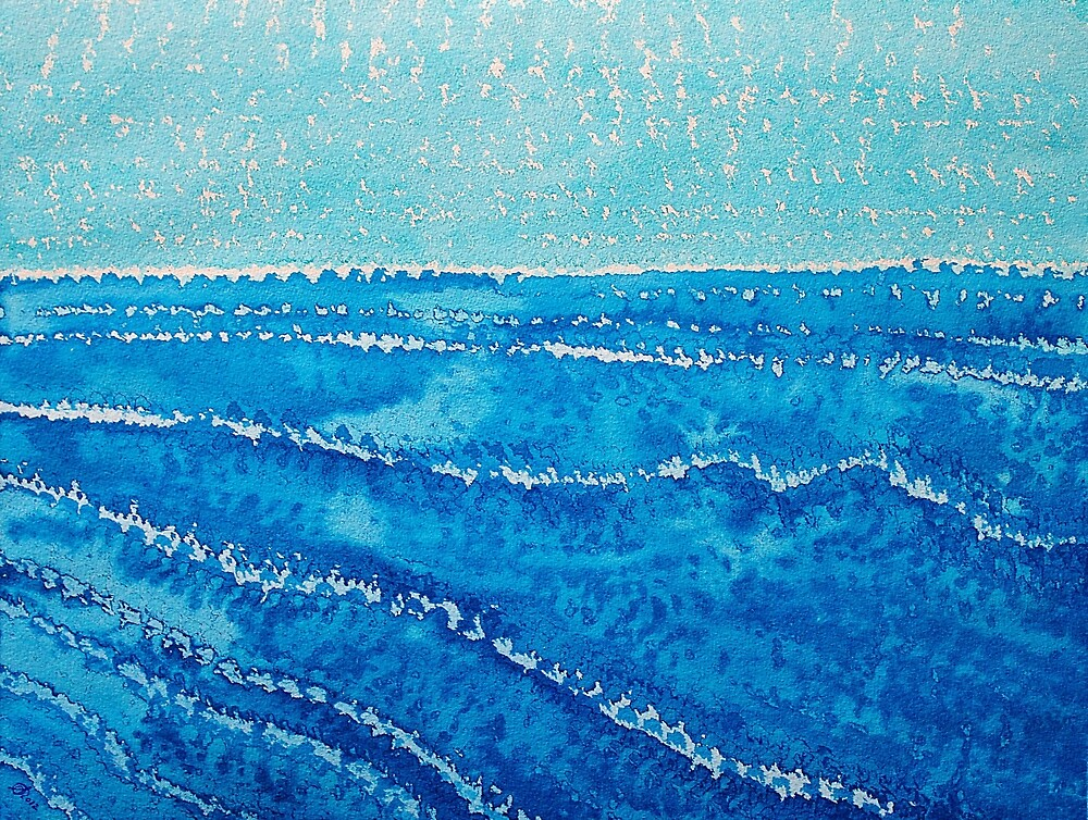 Japanese Waves original painting by Sol Luckman
