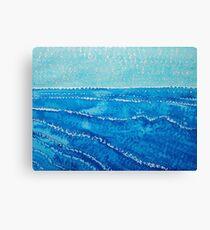 Japanese Waves original painting Canvas Print
