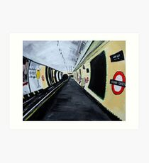 London Underground Wood Green Piccadilly Line Tube Station Acrylic Painting Art Print
