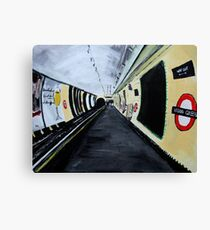 London Underground Wood Green Piccadilly Line Tube Station Acrylic Painting Canvas Print