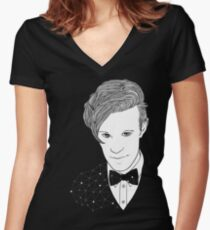 Space Doctor Women's Fitted V-Neck T-Shirt