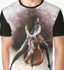 Tranquil Cellist Graphic T-Shirt
