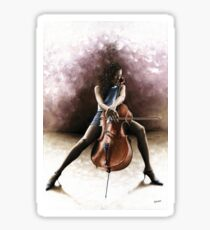 Tranquil Cellist Sticker