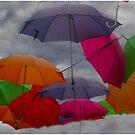 Raining Umbrellas by Wayne King