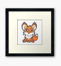 Geeky Fox Framed Print