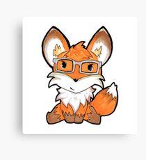 Geeky Fox Canvas Print
