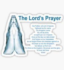 The Lords Prayer 1 Sticker
