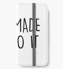 GIn made me do it iPhone Wallet/Case/Skin