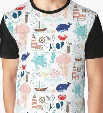 Nautical Doodles Graphic T-Shirt