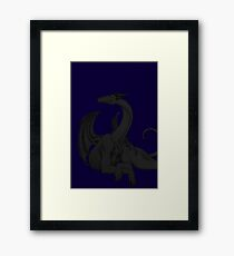 Dragon in Darkness Framed Print