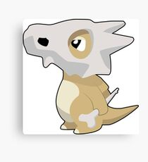 Cubone with Outline Canvas Print
