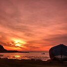 Day Breaks at Holy Island by Anna Ridley