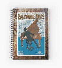 Baltimore Blues Vintage Sheet Piano Music Spiral Notebook