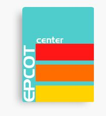 Epcot Center Turquoise Design  Canvas Print