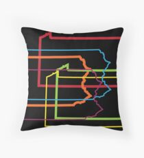 pennsylvania pride blur Throw Pillow