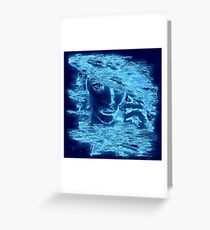 Electric Blue (Woman's Head) Greeting Card