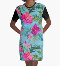 Hallo Hawaii, ein stilvolles Retro-Aloha-Muster. T-Shirt Kleid