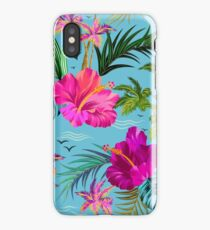 Hello Hawaii, a stylish retro aloha pattern. iPhone Case