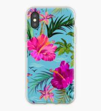 Hello Hawaii, a stylish retro aloha pattern. iPhone Case