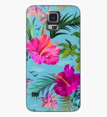 Hallo Hawaii, ein stilvolles Retro-Aloha-Muster. Hülle & Klebefolie für Samsung Galaxy