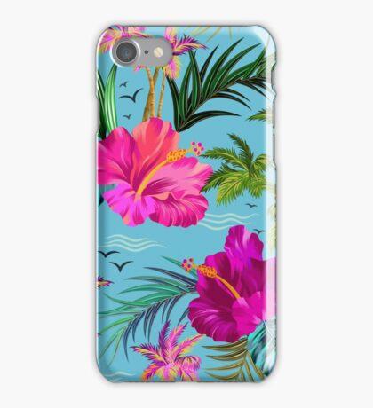 Hello Hawaii, a stylish retro aloha pattern. iPhone Case/Skin