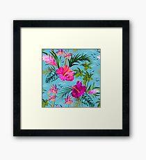 Hello Hawaii, a stylish retro aloha pattern. Framed Print
