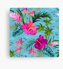 Hello Hawaii, a stylish retro aloha pattern. Canvas Print