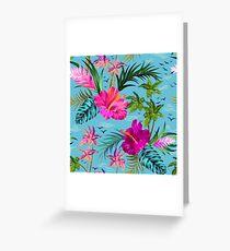 Hello Hawaii, a stylish retro aloha pattern. Greeting Card