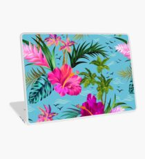 Hallo Hawaii, ein stilvolles Retro-Aloha-Muster. Laptop Folie