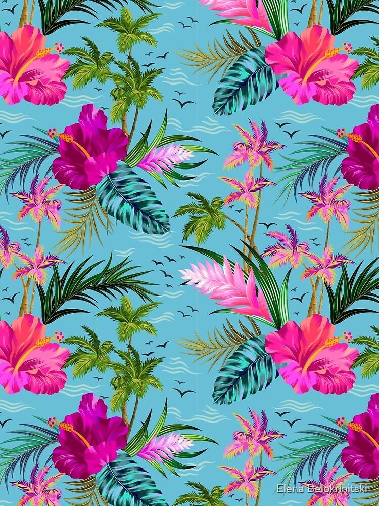 Hallo Hawaii, ein stilvolles Retro-Aloha-Muster. von belokrinitski