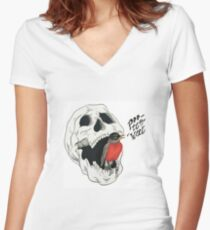Po-tee-weet? Women's Fitted V-Neck T-Shirt