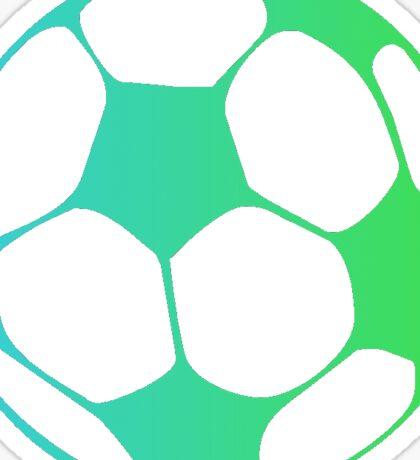 Fade Soccer Ball (Blue & Green) Sticker